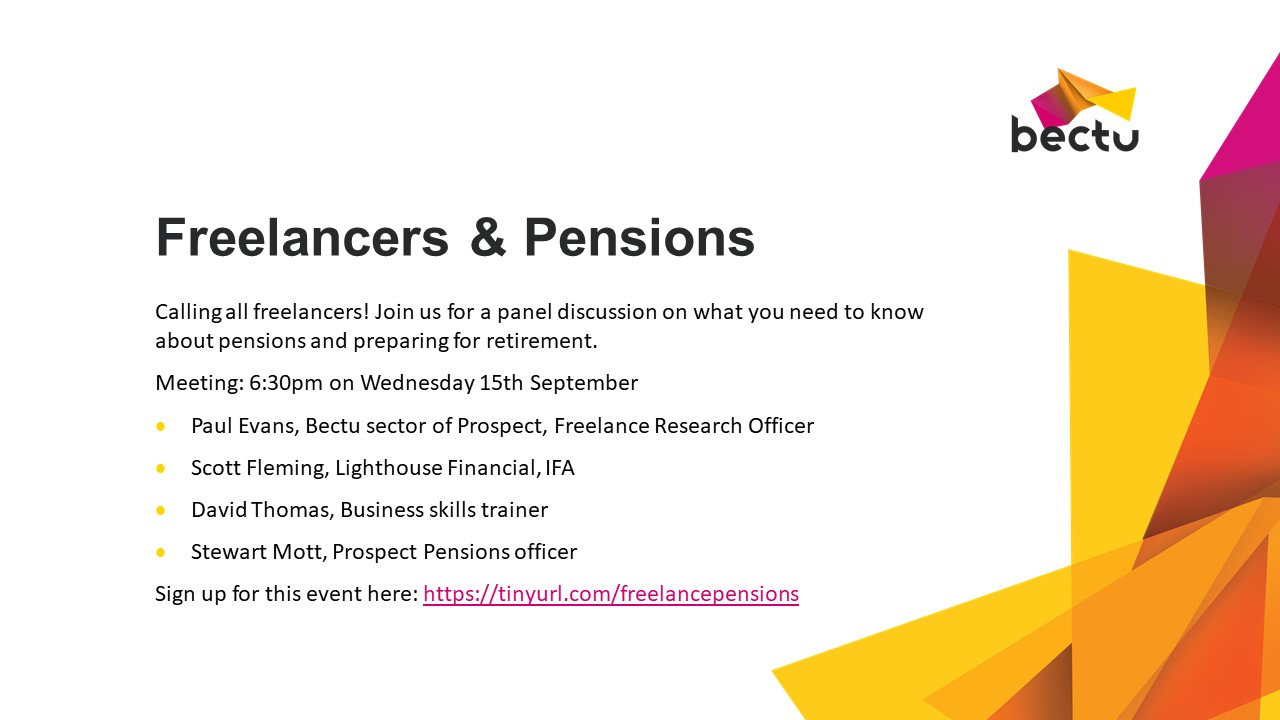 Freelancers and Pensions event